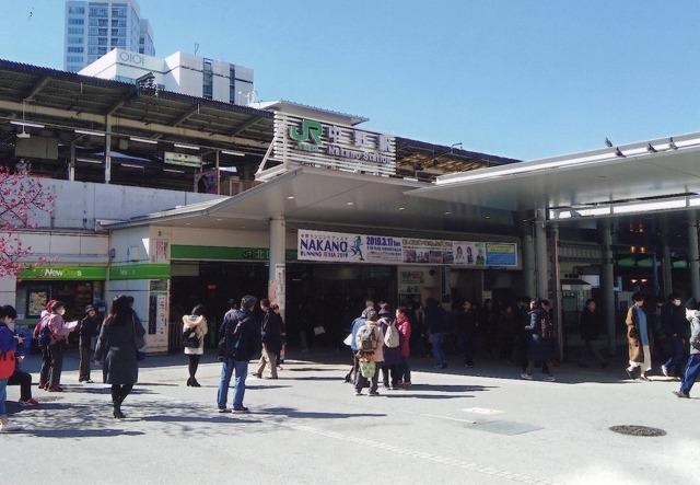現在の中野駅と北口駅前広場