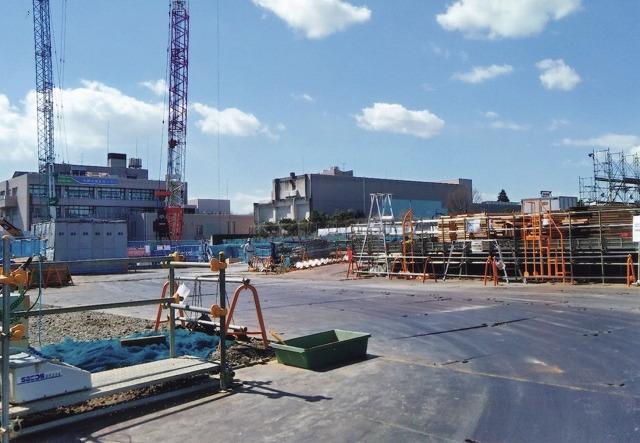 (仮称)中野区立総合体育館 建設現場