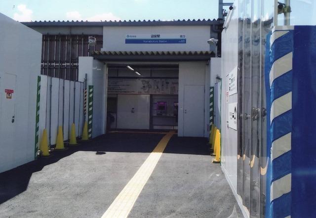 現在の沼袋駅北口(仮設)