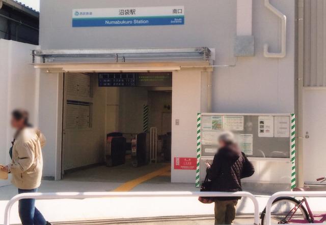 現在の沼袋駅南口(仮設)